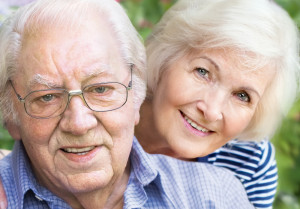 elderly couple heairng difficulties and dementia