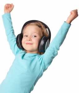 Auditory Processing girl with headphones
