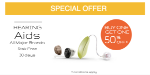 50% off price hearing aid
