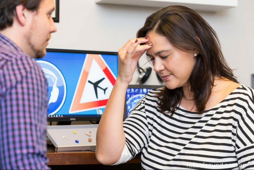 Tinnitus consultation ringing in the ears