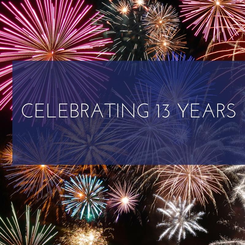 Celebrating thirteen years